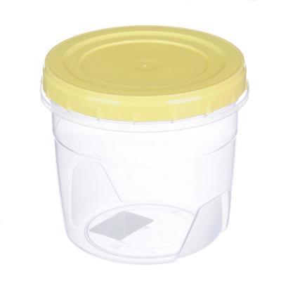 867-049 Банка для хранения продуктов пластиковая с завинчивающейся крышкой, 1л, 3 цвета
