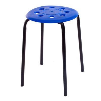 465-120 НИКА Табурет, металл, пластик, синий, h47см, d32см, 2 цвета, арт.ТП-01
