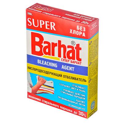 474-057 Super Бархат Отбеливатель кислородосодержащий порошкообразный, без хлора, к/у 300гр, арт.SБ-1101