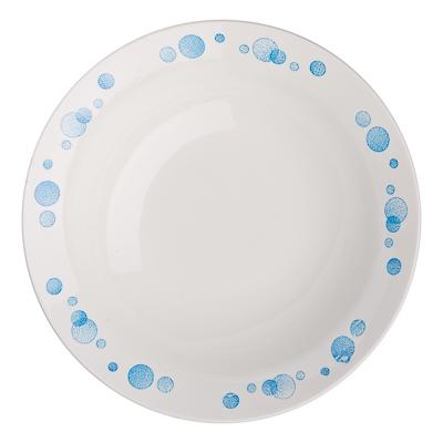 """814-001 Тарелка десертная d.17,5 см, фаянс, """"Синий горох"""""""