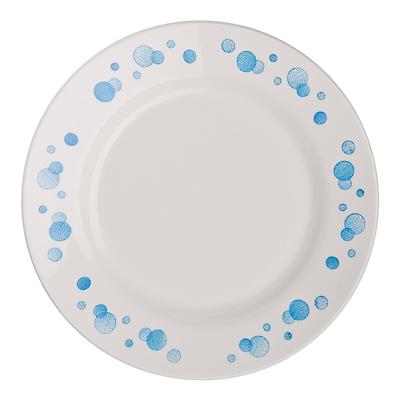 """814-003 Тарелка десертная d.17,5 см, фаянс, """"Синий горох"""""""