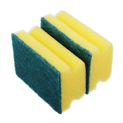"""441-085 Набор губок для мытья посуды 2 шт, 8,5х6,5х4,3 см, VETTA """"Профи"""""""