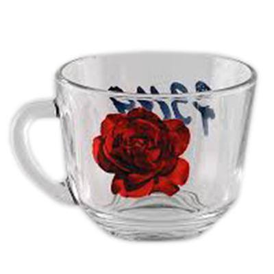 """879-069 ОСЗ Кружка стеклянная, 200 мл, """"Роза красная"""", 07с1337"""