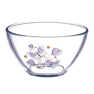 "877-392 ОСЗ Салатник, стекло, 11cм, ""Бабочки с сердечками"", 07с1322"