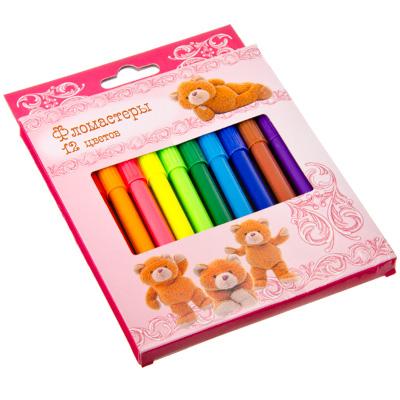 526-321 Плюшевый медведь Набор фломастеров, 12 цветов