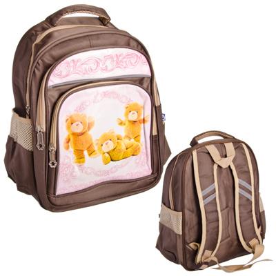 526-338 Плюшевый медведь Рюкзак для мальчиков, полиэстер, 35x29х14см