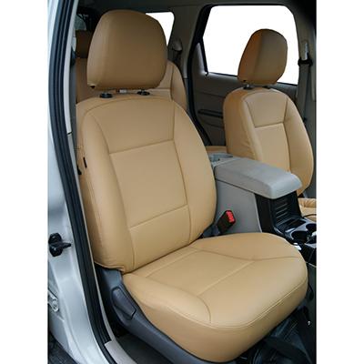 768-386 NEW GALAXY Чехлы автомобильные универ. 15 пр., экокожа с перфорацией, Airbag, Beige