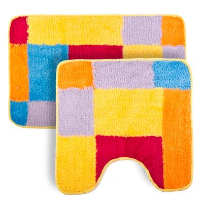 """462-512 VETTA Набор ковриков 2шт для ванной и туалета, акрил, 50x80см + 50x50см, """"Радуга"""" Дизайн GC"""