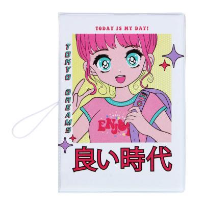 334-014 PAVO Обложка для паспорта с удерж.резинкой, с отд. для вод.удост, ПВХ, 13,7х9,6см, 2015-6, 6диз