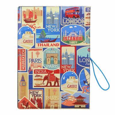 334-020 Обложка для паспорта с удерж.резинкой, с отд. для вод.удост, ПВХ, 13,7х9,6х0,4см,#2015-11, Дизайн GC