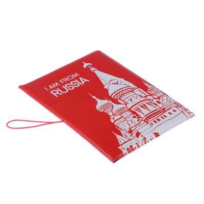 334-021 Обложка для паспорта с удерж.резинкой, с отд. для вод.удост,ПВХ, 13,7х9,6х0,4см,#2015-12, Дизайн GC