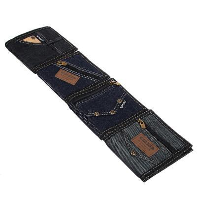 """303-508 Портмоне мужское из искусственой кожи, 4 дизайна, PAVO """"Джинсовый стиль"""""""