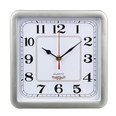 581-497 Часы настенные квадратные, пластик,23х23см, 4 цвета, 1xAA
