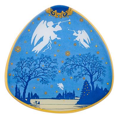 820-437 VETTA Рождество Блюдо треугольное стекло 25,4см, S330010 GC005