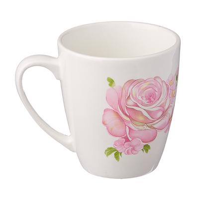 814-025 Розовые розы Кружка 220мл, фаянс, 0178