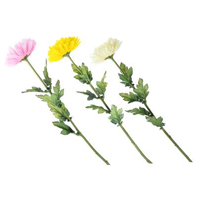 """501-326 Цветок искусственный """"Хризантема белая"""" 73см, пластик, полиэстер"""
