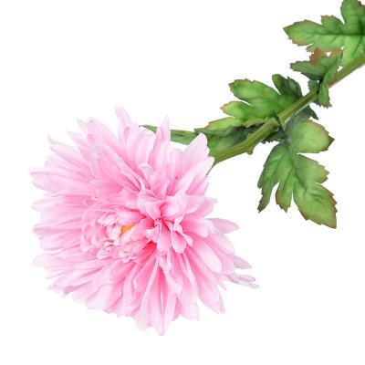 """501-328 Цветок искусственный """"Хризантема розовая"""" 73см, пластик, полиэстер"""