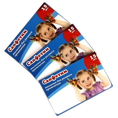 474-115 Салфетки мыльные для разового применения 15шт