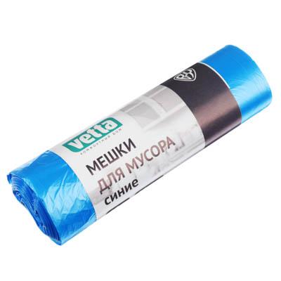 449-027 Мешки для мусора 60л, 20шт, 10 микрон, синие