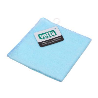448-186 Салфетка из микрофибры универсальная, 30х30 см, 160 гр./кв.м, 3 цвета, VETTA