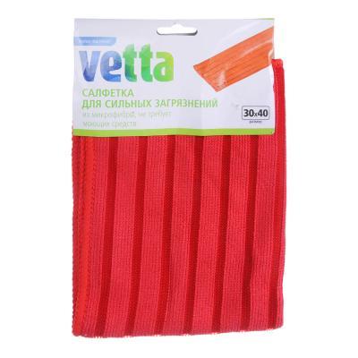 448-188 Салфетка для сильных загрязнений из микрофибры, 30х30 см, 300 гр./кв.м, 4 цвета, VETTA