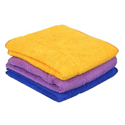 448-189 Салфетка для сильных загрязнений из микрофибры, двойная, с металлической сеткой, 30х30 см, 3 цвета,