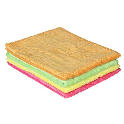 448-190 Салфетка универсальная из микрофибры, махровая, 30х40 см, 300 гр./кв.м, 4 цвета, VETTA