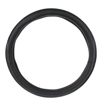 """708-046 NEW GALAXY Оплетка руля, экокожа, со вставками """"нубук"""", черный, разм. (М)"""