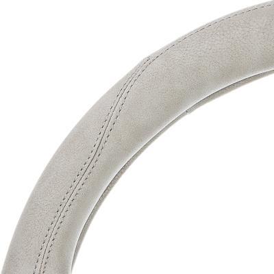 """708-047 NEW GALAXY Оплетка руля, экокожа, со вставками """"нубук"""", серый, разм. (М)"""
