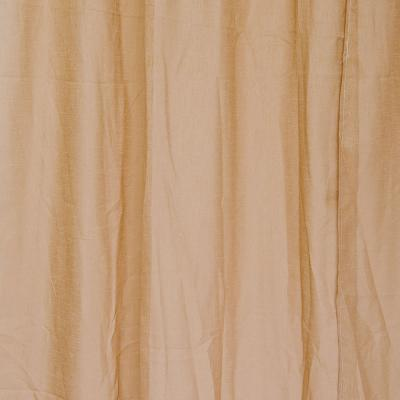 "491-345 Комплект штор 2 шт, полиэстер, ""Лен"", по 1,4х2,6м, бежевый"