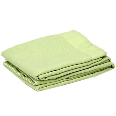 "491-346 Комплект штор 2 шт, полиэстер, ""Лен"", по 1,4х2,6м, зеленый"