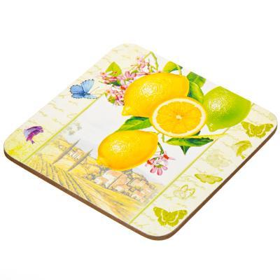 """806-960 Набор чайный 2 пр. кружка 275мл с подставкой, фрф, подар.уп, """"Лимоны"""", M05CQ-T07"""