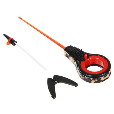 126-005 AZOR FISHING Удочка для зимней рыбалки 25cм, безосевая, файберглас