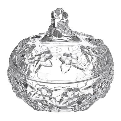 """877-433 Конфетница, стекло, 12,7х13см, """"Оливи"""", GB1807MH-1"""