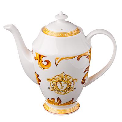 821-331 FARFALLE Империя Чайник, 1000мл, костяной фарфор, подар. упак., Дизайн GC