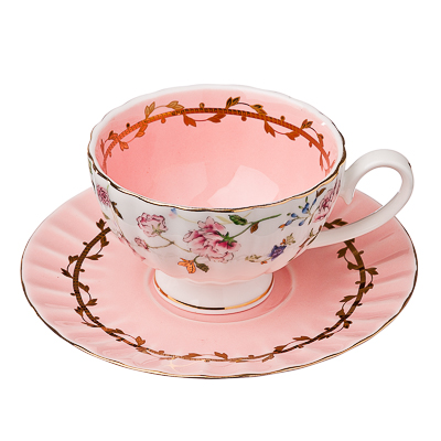 821-338 FARFALLE Бонасье Набор чайный 2 пр., 200мл, костяной фарфор, подар. упак