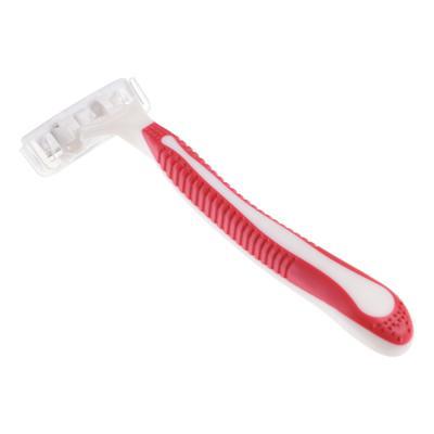 346-013 Станки для бритья с тройным лезвием 5шт для женщин, плавающая головка, силикон, пластик