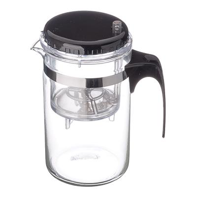 850-118 Чайник заварочный с кнопкой 500мл, стекло, пластик