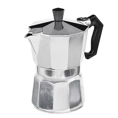 850-129 Кофеварка гейзерная, 3 чашки, алюминий(SGS), пластиковая ручка