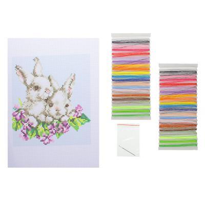 """366-016 Набор для вышивки 20х28см """"Мир животных"""" (канва, нитки мулине, игла), 8 дизайнов"""