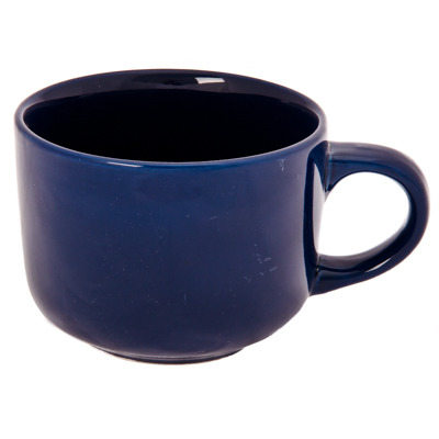 824-539 FARFALLE Акварель Бульонница, 500мл, керамика, синяя