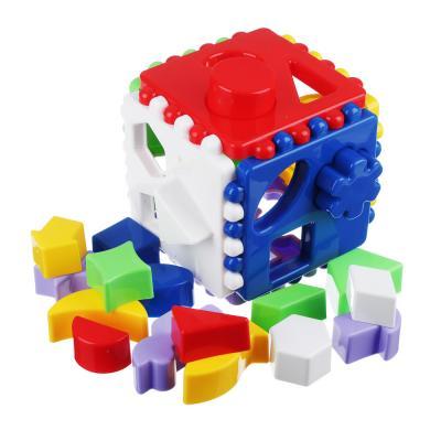 272-063 РЫЖИЙ КОТ Логический куб большой, пластик, 12х12х12см, И-3929