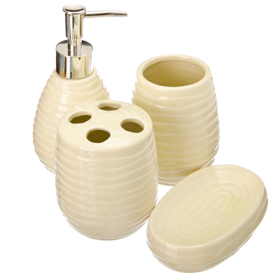 """463-716 VETTA Набор для ванной 4 пр., керамика, """"Афины"""", светло-фисташковый"""