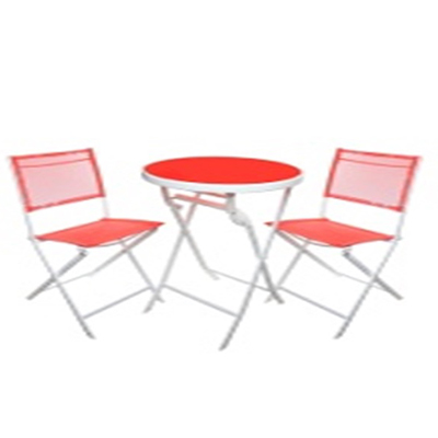 121-027 Комплект мебели 3 пр. (стол d60см + 2 стула складные металл/пластик), 835-264