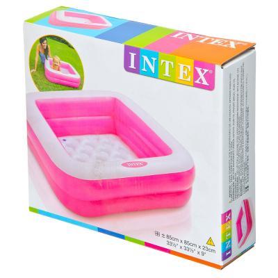 109-009 INTEX Бассейн надувной 85x85x23см, 57100, арт.810-160