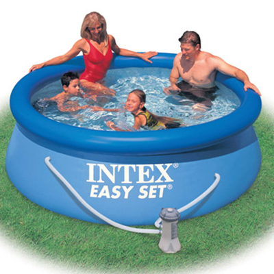 109-011 INTEX Бассейн надувной Easy Set 244x76см 2419л, насос с фильтром 1250л/ч 28112