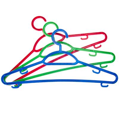 456-069 Набор вешалок тонких 3 шт, пластик, р.46-48, цветная, Р2904НС/2904СЗ