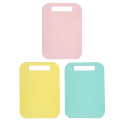 852-087 Доска разделочная гибкая, пластик, 29x21 см, 3 цвета