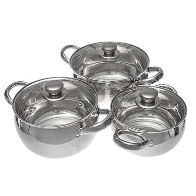 """822-028 Набор посуды 6 предметов, кастрюли с крышками, """"Дерби"""""""