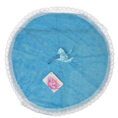 484-629 Полотенце для рук с декоративным бантом, микрофибра, d40см, 4 цвета, VETTA
